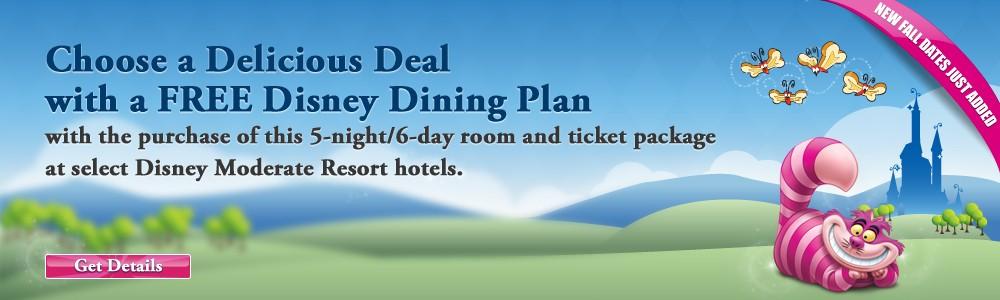 WDW Summer Free Dine Offer
